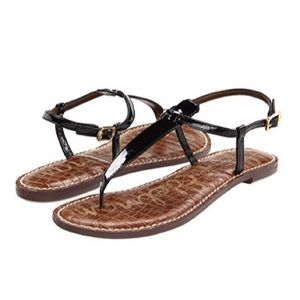 Sam Edelman Gigi Patent Leather Thong Sandals EUC